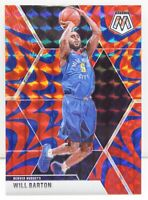 Will Barton 2019-20 REACTIVE BLUE MOSAIC PRIZM Veteran Card #151 Denver Nuggets