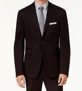 $750 Calvin Klein Men's Black Slim Fit Knit Suit Jacket Blazer Sport Coat 40 R