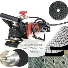 "Wet Polisher Grinder 5"" diamond 15 polish pad Concrete Marble Stone Brick Block"
