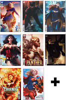 "STANLEY ""ARTGERM"" LAU EXCLUSIVE & VARIANT COMIC BOOKS ~ ASSORTED DC & MARVEL"