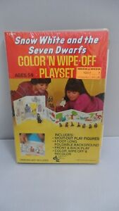 #12001 SNOW WHITE AND THE SEVEN DWARFS COLOR 'N WIPE OFF PLAYSET