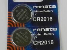 RENATA  CR2016 Lithium Batery 3Volt   - 2Pcs