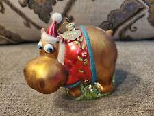Bronners Christmas Hippo Hippopotamus Ornament