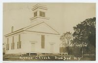 RPPC Baptist Church BRADFORD NY Vtg Steuben County New York Real Photo Postcard