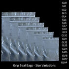 Grip Seal Bags Self Resealable Grip Poly Plastic Clear Zip Lock MIX [All Sizes] <br/> 52,000 sold✓ - Order before 1 PM for Same Day Dispatch✓