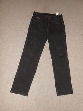 180 F05 WRANGLER Vaqueros W32 L30 Negro Pantalones Vaqueros Ajustado De Texas