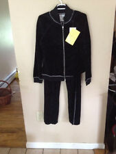 NWT New Shop Intuition Hersh Velour Jacket  Pants Embroidery Size S Suit Relax