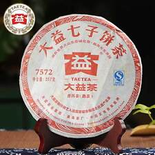 2012 yr TAETEA 7572 (Batch 201) Ripe Puer Tea 357 g Dayi Shu Pu-erh Tea Cake