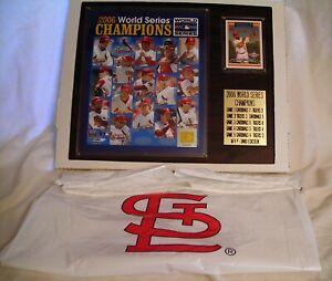 "2006 World Series Champions St. Louis Cardinals Plaque 12"" x 15"" NIB"