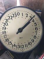 Rare Antique Military 24 hour Wall Clock