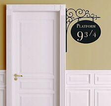 Platform 9 3/4 Harry Potter Door Decor Wall Decal Vinyl Sticker Free Shipping