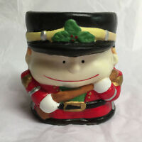Small and Decorative Christmas Soldier porcelain Candle Holder