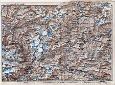Amsteg Andermatt 1873 kl. orig. Karte + Reisef. (16 S) Wasen Airolo Faido Titlis