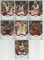 2013-14 Prestige Miami Heat 7 Card Team Set LeBron James Dwyane Wade Chris Bosh