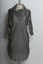 Vintage 70s 80s Sweet Things brand silver metallic acetate new wave disco dress