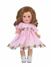 Ginny Doll Dress Gingham and flowers in Pink