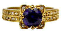 18K Gold Filled Flawless Zircon Women's Ring-BLUE Size 8.5 US - FREE Shipping