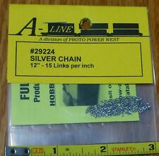 "A-Line HO #29224 Silver Chain - 12"" 30.5cm -- 15 Links Per"