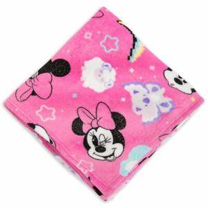 Disney Store Mini Mouse Pink Fleece Throw 60'' x 50''