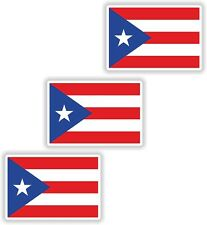 "Puerto Rico USA United States America 3x Small Flag Vinyl Stickers (0.8""x1.2"")"