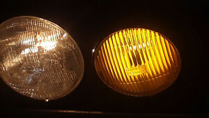 Rebuilt PAIR Mercedes w123 Amber Fog Lights 300D 240D 300TD 300CD yellow As New