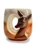 Royal Copley MCM Vintage Mid-Century Modern  Deer Fawn vase planter