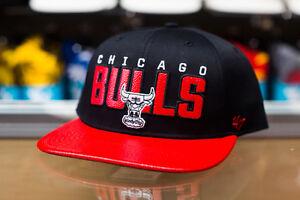 '47 Brand Chicago Bulls Black/Red Textured Snapback Hat