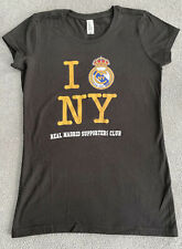 REAL MADRID SUPPORTERS CLUB PENA MADRIDISTA NEW YORK CITY TEE WOMENS SMALL