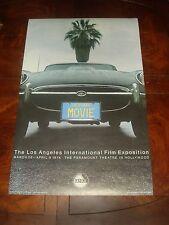 1974 FILMEX POSTER Los Angeles International Film Exposition JAGUAR XKE -2nd Ptg