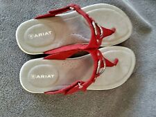 Ariat Women's Red Leather Thong Sandals/8B/New
