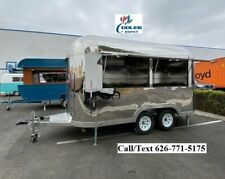 New Electric Mobile Food Trailer Enclosed Concession Retro Vintage Style 4 Hitch