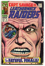 Captain Savage And His Leatherneck Raiders 4 Marvel 1968 VG Dick Ayers