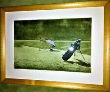 """Frank Kaczmarek """"Checking The Line"""" Golf LE Signed/Framed Watercolor & Etching"""