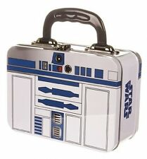 STAR WARS R2-D2 TIN TOTE - R2D2 Metal SCHOOL Lunch Box with HANDLE