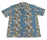 Vintage Royal Creations Mens Blue Floral Hawaiian Shirt Size XL Made in USA