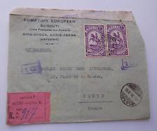 8032) Djbouti - Addis Abeba (Abissinie) Raccomandata con censura 1936