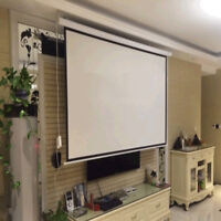 Electric Auto Projector Screen Projector Remote Control Theater Projection