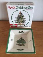"Spode Christmas Tree England S3324-Z  80  6"" Square Tray     NIB"