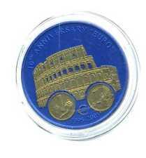 5 Dollars Liberia 2005 10 Jahre Euro Italien Kolosseum Lira u Euro selten M_155