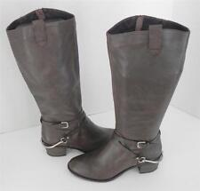 Steve Madden Sturrip Brown Leather Riding Knee High Boots 8.5