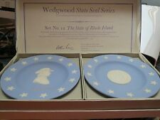 Wedgwood Jasperware Rhode Island State Seal and Stephen Hopkins Compotiers