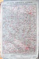 1920 CARTA GEOGRAFICA FIRENZE BOLOGNA TOURING: MODENA PAVULLO FIRENZUOLA EMPOLI