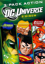 Dc Universe, 3-Pack Action Dvd (Animated). New! See description for titles.