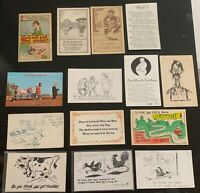 Lot of 14 Original Vintage Postcards - Comic/Humor - Drinking, Poems, +
