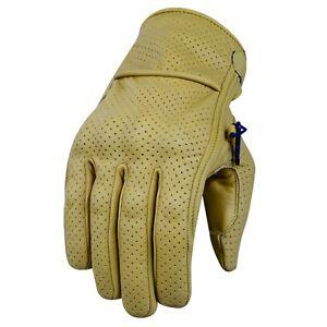 Cafe Racer Mens Leather Riding Gloves Motorcycle Leather Gloves Biker Gloves