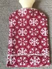 David Fussenegger Hot Water Bottle. New With Tags. Red With Off White Snowflakes