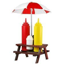 Picknicktisch Gewürzhalter Gewürzregal Salz Pfeffer Streuer Ketchup Flasche BBQ