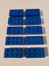 LEGO® 10 x 3001 Basic Stein 2 x 4 blau 300123 (#LB) City Burg Star Wars Arktis