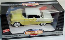 ERTL 1/18 '55 Chevy Bel-Air Harvest GOLD & India IVORY 7254 American Muscle 1955