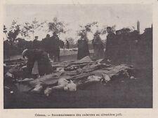 1905  --  RUSSIE ODESSA  RECONNAISSANCE DE CADAVRES AU CIMETIERE JUIF   3H784